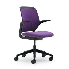 Purple Cobi Desk Chair, Black Frame
